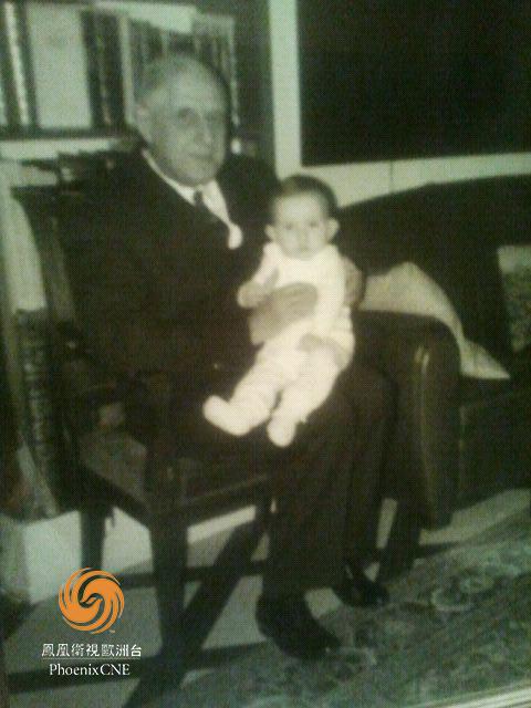 戴高樂和其孫子的合影(首次公開)。