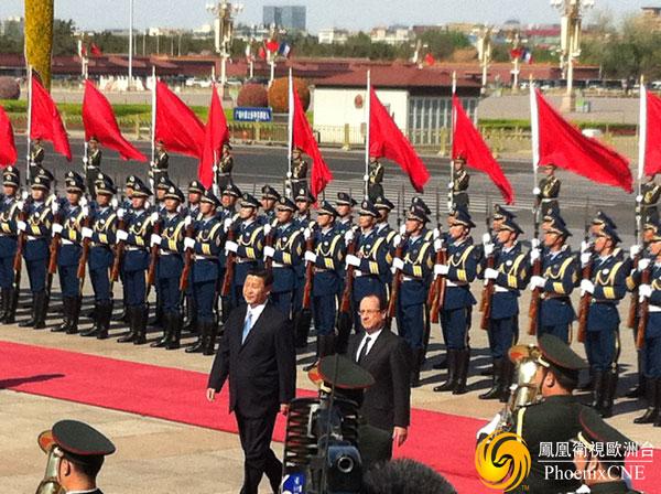 法國總統奧朗德首次訪華
