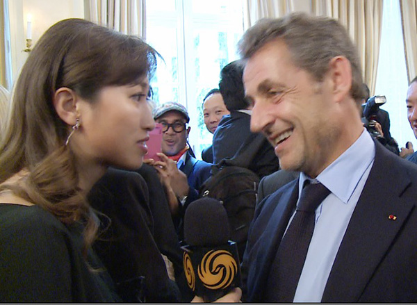 采訪 法國前總統萨科齐