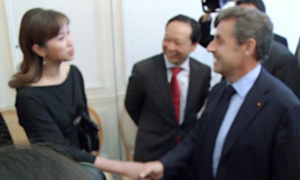 采訪法國前總統萨科齐