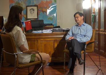 采訪中國駐法國使館教育處公使銜參贊马燕生
