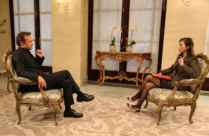 專訪中國法國電影節形象大使法國著名演員文森特·佩雷斯